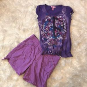 Other - 2pc Short Outfit Size 14